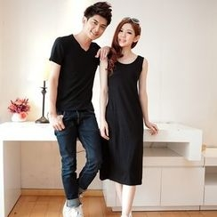 NINETTE - Couple: Short-Sleeve T-Shirt / Sleeveless Dress