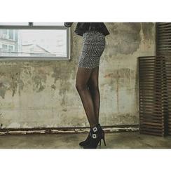 UUZONE - Sequined Miniskirt