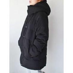 STYLEBYYAM - Hooded Duck-Down Padded Coat