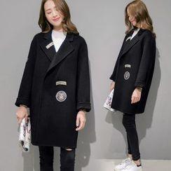 lilygirl - Applique Knit Coat