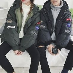 ZZP HOMME - Couple Matching Applique Padded Coat