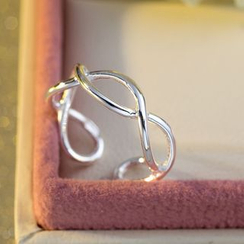 Kitty Kiss - 925純銀扭紋指環