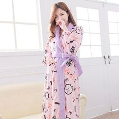 Mother Bear - Maternity Printed Robe