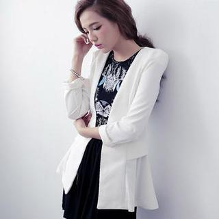 D.P-Shop - Padded-Shoulder Single-Button Blazer