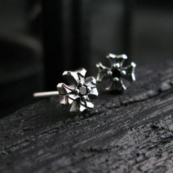 Sterlingworth - Hand Made Black Spinel Single Stud Earring