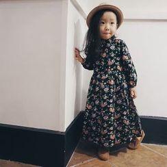 Happy Lala - Kids Long-Sleeve Printed Maxi Dress