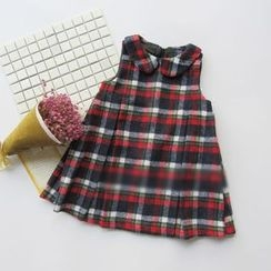 Happy Lala - Kids Sleeveless Plaid Dress