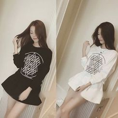 QZ Lady - Set: Print Pullover + Skirt