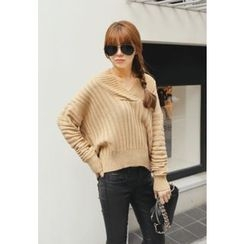 REDOPIN - Rib-Knit Sweater