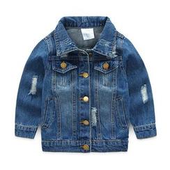 Seashells Kids - Kids Distressed Denim Jacket