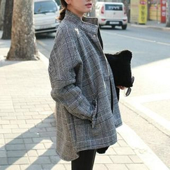 Jolly Club - Houndstooth Zip Coat
