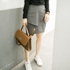 Miss Chipmunk - Layered Pencil Skirt
