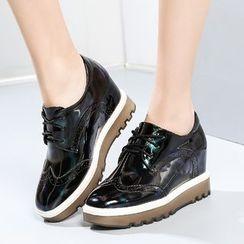 ZOHOUR - 內增高布洛克牛津鞋