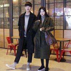 Evolu Fashion - Couple Matching Double-Breasted Coat