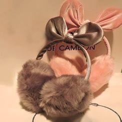 Azalea - Bow Furry Earmuffs