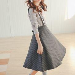 Porta - Striped Woolen Jumper Skirt