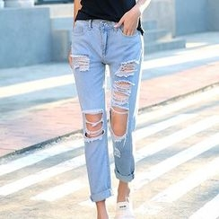Glen Glam - Distressed Jeans