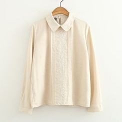 ninna nanna - Embroidered Long-Sleeve Shirt