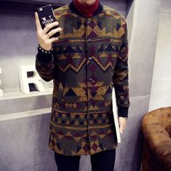 Hawoo - Pattern Buttoned Coat