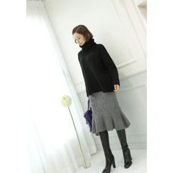 Lemite - Cable-Knit Skirt
