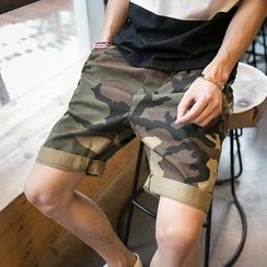 JUN.LEE - Camo Shorts