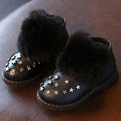 绿豆蛙童鞋 - 童装星星铆钉短靴