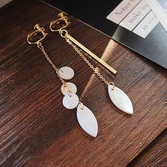 EPOQ - Non Matching Drop Earrings/ Clip-On Earrings
