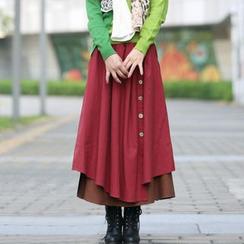 Zen Girl - Linen Tiered Maxi Skirt