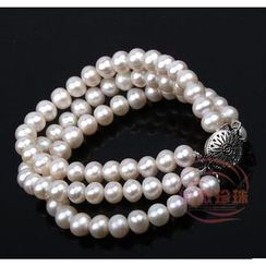 ViVi Pearl - Triple-Strand Freshwater Pearl Bracelet