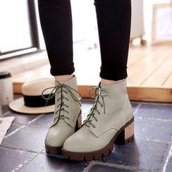 傾城 - 粗跟短靴