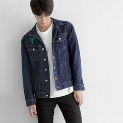 Seoul Homme - Embroidered Denim Jacket