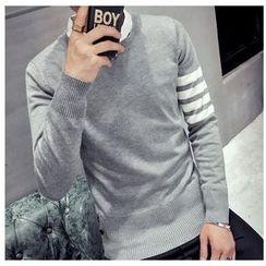 風森 - 條紋針織套衫