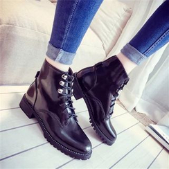 Yoflap - Lace Up Short Boots