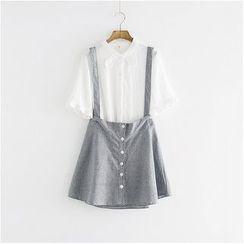 Storyland - Houndstooth Suspender Skirt