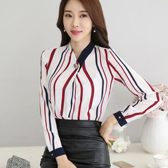 Harmonium - Striped Chiffon Blouse