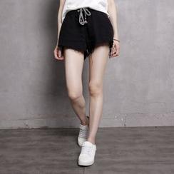 Sonne - Fray-Trim Drawstring Shorts
