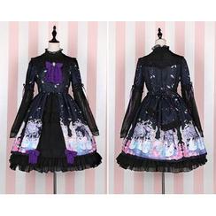 GOGO Girl - Long-Sleeve Lolita Cosplay Dress
