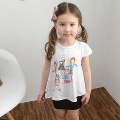 Lemony dudu - Kids Short-Sleeve Cartoon Print T-Shirt