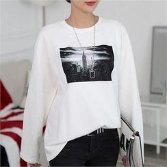 CHICFOX - Long-Sleeve Printed T-Shirt