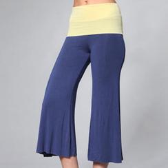 Almaz.C Active - Contrast-Waistline Gaucho Yoga Pants