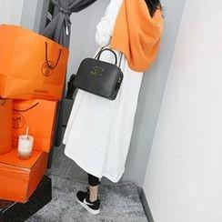 MARSHMALLOW - Maternity Long-Sleeve Maxi Dress