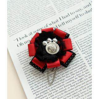 Petit et Belle - Ribbon Flower Lace Brooch