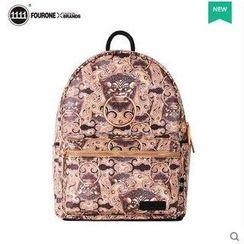Fourone - Print Faux Leather Backpack