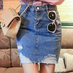 Ashlee - 牛仔短裙