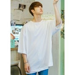 JOGUNSHOP - Short-Sleeve Round-Neck T-Shirt