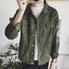 Weroni - Appliqué Buttoned Jacket
