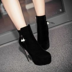 JY Shoes - High Heel Short Boots