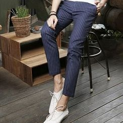 HEIZE - Striped Cropped Pants