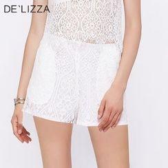 DELIZZA - 蕾絲短褲