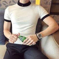 YONDER - Short-Sleeve Contrast Trim Polo Shirt